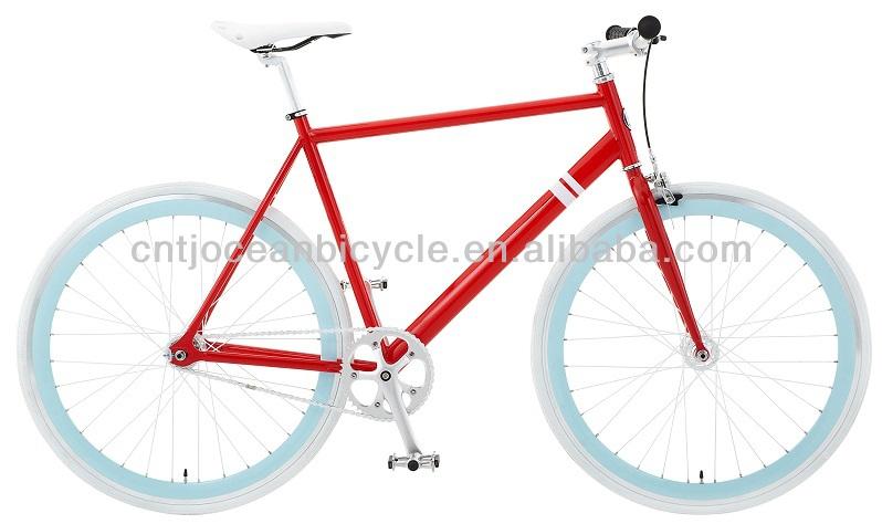 Hi-ten Steel Frame 700C Single Speed Mountain Bicycle