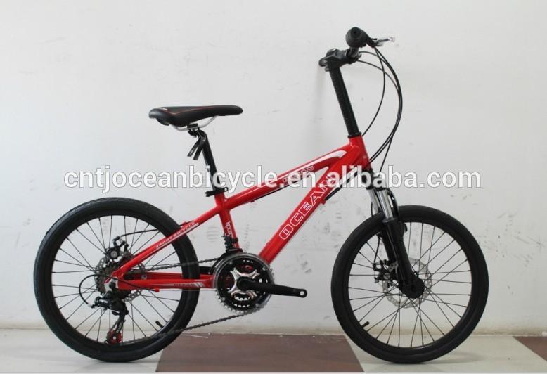 "20"" red aluminum alloy kids bike"
