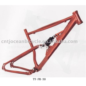 steel bicycle frame with suspension