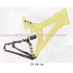 Alloy supension bicycle frame