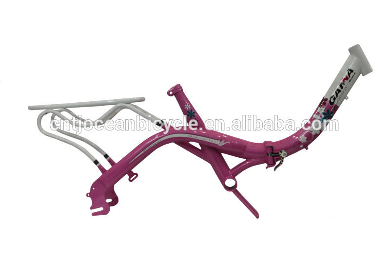 Bicycle Parts Steel Folding Bike Frame with Carrier OCZ005