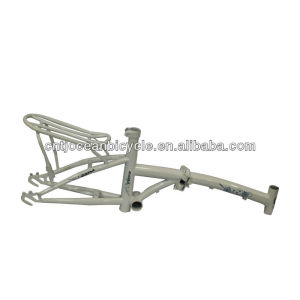 Bicycle Spare Parts Steel Folding Bike Frame with Carrier OCZ007