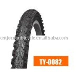 black bicycle tyre tire MTB style