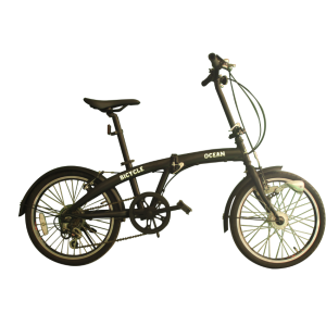 Outer 6 speed black folding bike