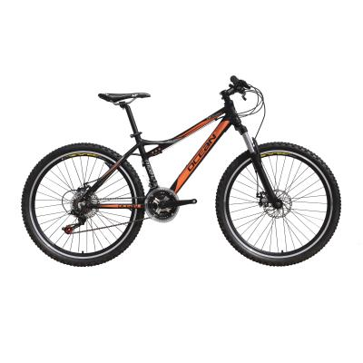 Alloy suspension fork and frame mountain bicycle
