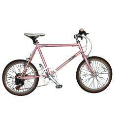 On road bike Pink