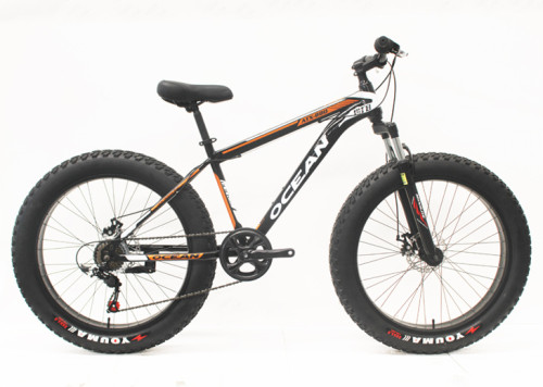 26 INCH  FAT BIKE FRAME STEEL SUSPENSION FORK STEEL MOUNTAIN BIKE MTB BICYCLE