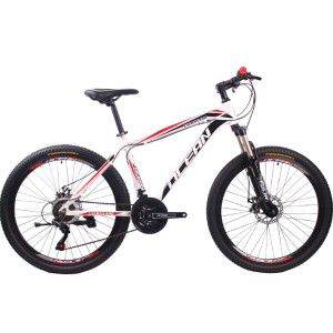 26 inch Aluminum alloy frame alloy lockable fork SHIMANO 21 speed disc brake Mountain bike MTB bicycle