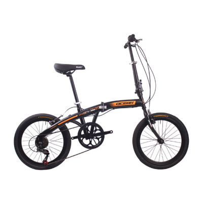 20 inch Steel frame Steel fork SHIMANO 7 speed Double V brake Folding bike bicycle OC-18F2007S60