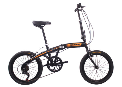 20 inch Steel frame Steel fork SHIMANO 7 speed Double V brake Folding bike bicycle OC-18F2007S60