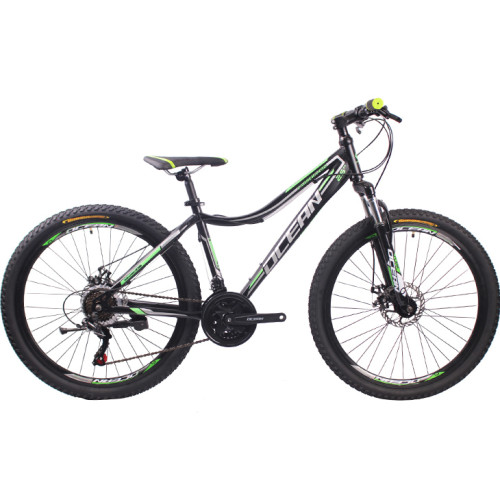 26 inch Hi-ten steel frame steel fork SHIMANO 21 speed disc brake Mountain bike MTB bicycle