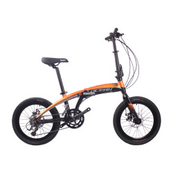 20 inch Alloy frame alloy fork 18 speed Double disc brake Folding bike bicycle