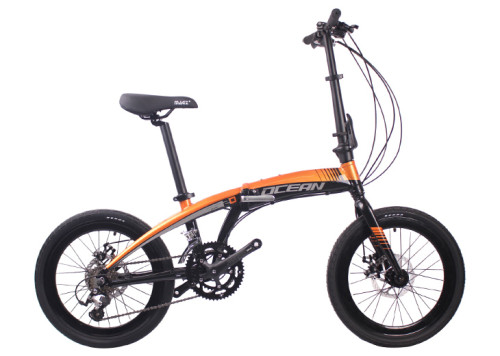 20 inch Alloy frame alloy fork 18 speed Double disc brake Folding bike bicycle OC-18F2018A62