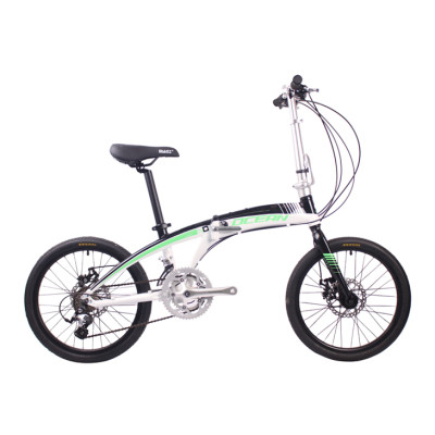 20 inch Alloy frame alloy fork 18 speed Double disc brake Folding bike bicycle OC-18F2018A63