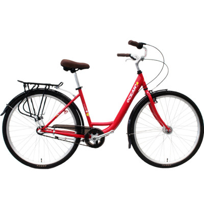 700C Hi-ten steel frame and fork bicycle Coaster brake internal 3 speed city bike commuter bicycle OC-17RS7003SG