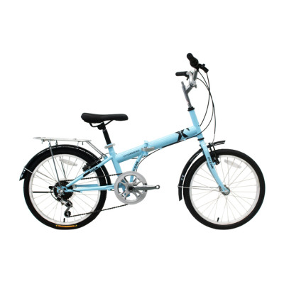 20 inch steel frame and rigid fork folding bike 7 speed V brake folding bicycle OC-17F20007S03