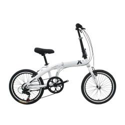 20 inch steel frame and rigid fork folding bike 7 speed V brake folding bicycle