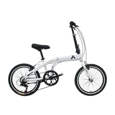 20 inch steel frame and rigid fork folding bike 7 speed V brake folding bicycle OC-17F20007S10