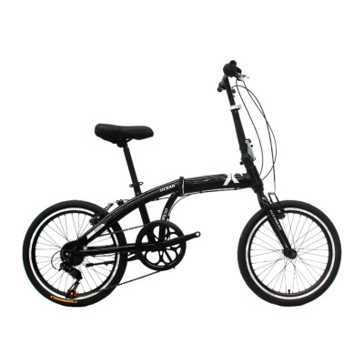 20 inch steel frame and rigid fork folding bike 7 speed V brake folding bicycle OC-17F20007S11