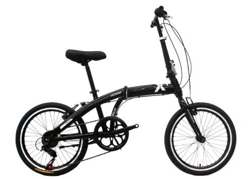 20 inch steel frame and rigid fork folding bike 7 speed V brake folding bicycle OC-17F20007S11