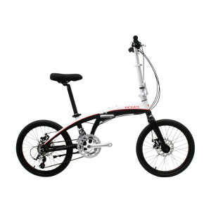 20 inch alloy frame and alloy fork 18 speed disc brake folding biycle