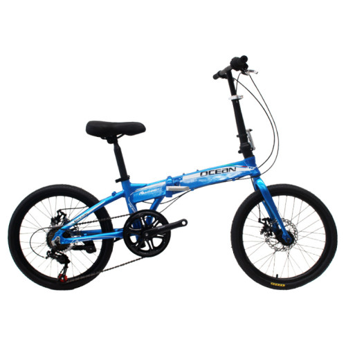 20 inch Alloy frame Steel rigid fork SHIMANO 7 speed double disc brake folding bicycle OC-17F20007A06