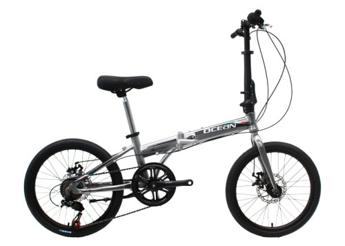 20 inch Alloy frame Steel rigid fork SHIMANO 7 speed double disc brake folding bicycle OC-17F20007A07