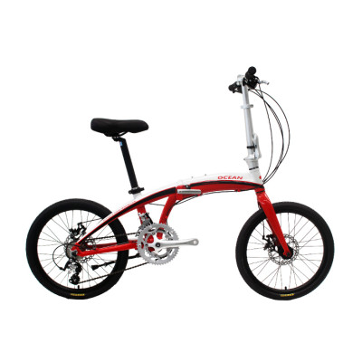 20 inch Alloy frame and alloy rigid fork 18 speed double disc brake folding bicycle OC-17F20018A08