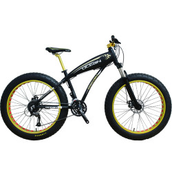 26 inch Aluminum alloy frame and suspension fork SHIMANO 27 speed Disc brake Fat tire bike bicycle
