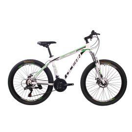2018新款26英寸21速山地自行车钢质车架钢质前叉碟刹山地车