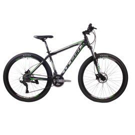 29英寸24速山地自行车铝合金车间铝合金可锁死避震前叉液压碟刹山地车