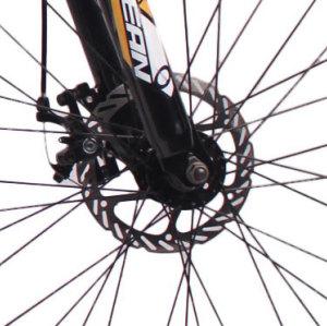 26英寸21速山地自行车钢质车架钢质前叉碟刹自行车