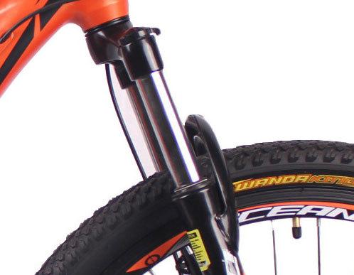 26英寸21速山地自行车铝合金车架铝合金可锁死避震前叉碟刹山地车