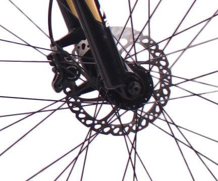 高品质2018新款26英寸27速山地自行车铝合金车架铝合金可锁死避震前叉液压碟刹山地车