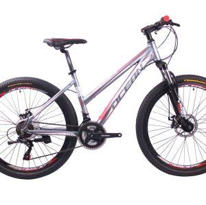 新款热销26英寸21速山地自行车铝合金车架钢质前叉碟刹山地车