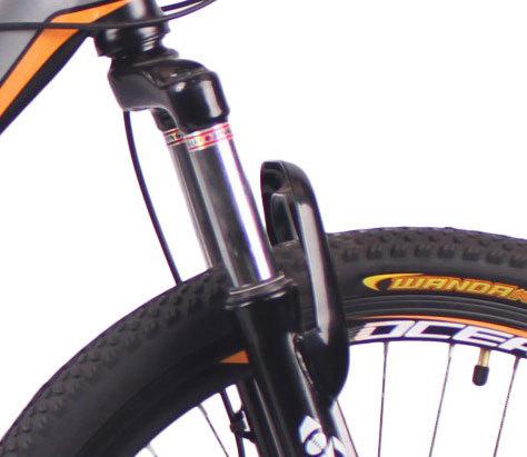新款24英寸21速山地自行车钢质车架钢质前叉碟刹山地车