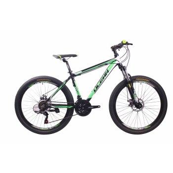2018新款26英寸21速山地自行车铝合金车架铝合金可锁死避震前叉碟刹山地车