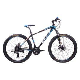 26英寸24速山地自行车铝合金车架钢质前叉碟刹山地车