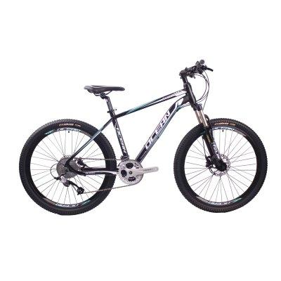 26英寸30速山地自行车铝合金车架铝合金可锁死避震前叉液压碟刹山地车