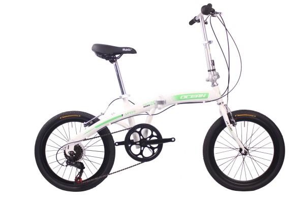 20英寸7速折叠自行车钢质车架钢质前V刹折叠车自行车