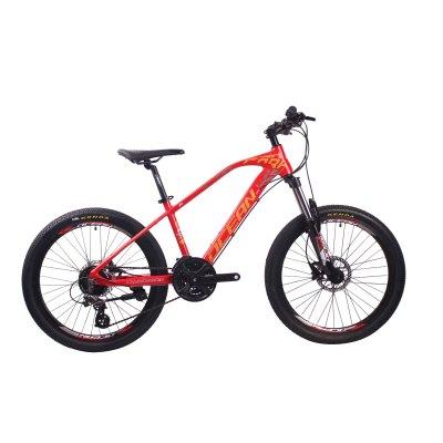 24英寸24速山地车自行车铝合金车架铝合金可锁死避震前叉液压碟刹山地车