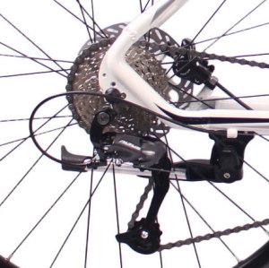 热销新款26英寸27速山地车自行车铝合金车架铝合金可锁死避震前叉液压碟刹山地自行车