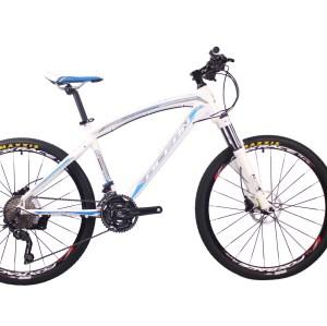 高性价比26英寸30速山地车铝合金车架铝合金可锁死避震前叉液压碟刹山地自行车