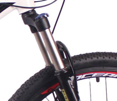 2018热销26英寸21速山地自行车铝合金车架铝合金可锁死避震前叉碟刹山地车