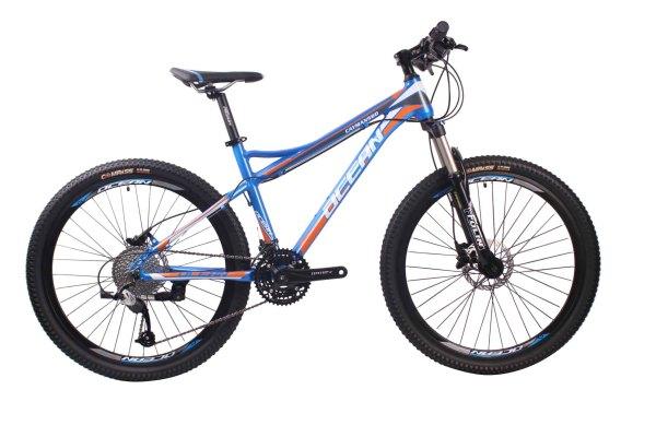 26英寸30速山地自行车铝合金车架铝合金可锁死避震前叉液压碟刹