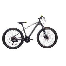 26英寸21速山地自行车钢质车架钢质前叉液压碟刹山地车2018新款
