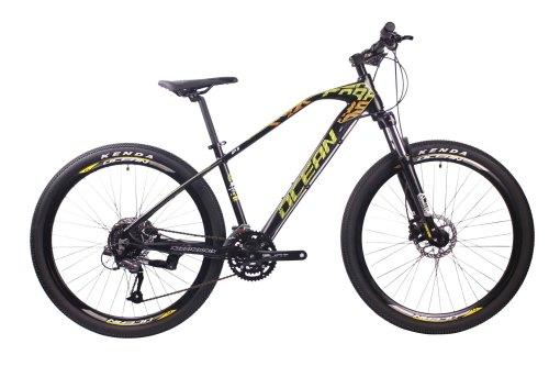 27.5英寸27速山地车自行车铝合金车架铝合金可锁死避震前叉液压碟刹山地车