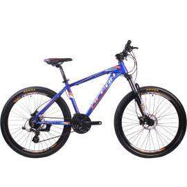 27.5英寸24速山地自行车铝合金车架铝合金可锁死避震前叉液压碟刹山地车