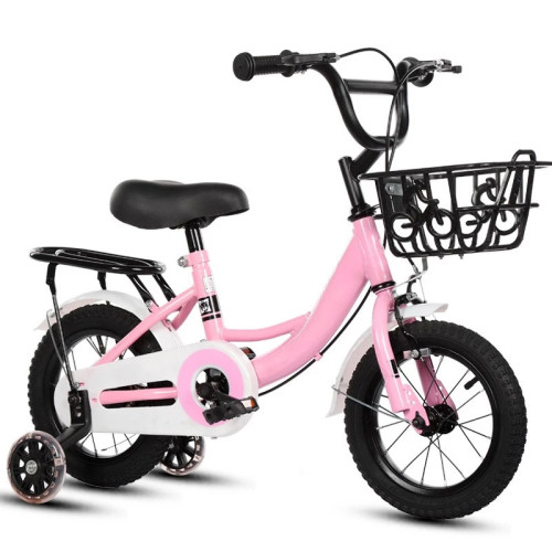 High Cost Performance Chinese Factory 12 inch Kid's Bike High Carbon Steel Frame Carbon Steel Fork V Brake Pink Made in China