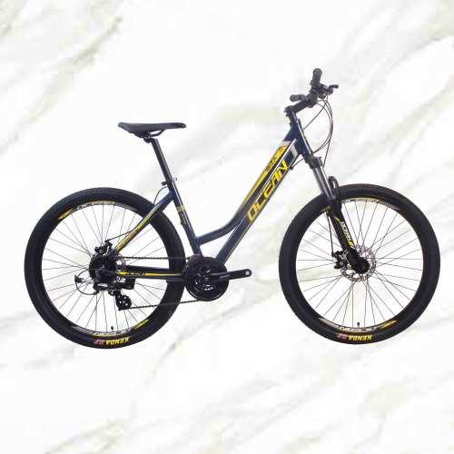 Mountain Bike Aluminum Alloy 27.5 inch Frame Lockable Fork 24sp MTB Double Disc Brake Bicycle OC-19M002